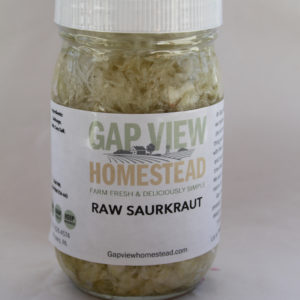 unpasteurized sauerkraut for sale gap view homestead